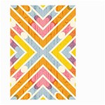 Line Pattern Cross Print Repeat Small Garden Flag (Two Sides)