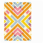Line Pattern Cross Print Repeat Large Garden Flag (Two Sides)