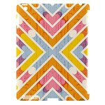 Line Pattern Cross Print Repeat Apple iPad 3/4 Hardshell Case (Compatible with Smart Cover)