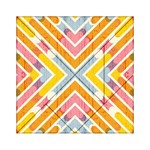 Line Pattern Cross Print Repeat Acrylic Tangram Puzzle (6  x 6 )