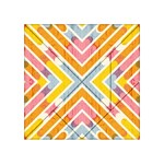 Line Pattern Cross Print Repeat Acrylic Tangram Puzzle (4  x 4 )