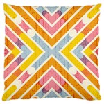 Line Pattern Cross Print Repeat Large Cushion Case (One Side)