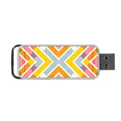 Line Pattern Cross Print Repeat Portable Usb Flash (one Side) by Amaryn4rt