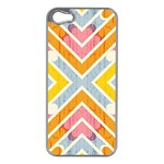 Line Pattern Cross Print Repeat Apple iPhone 5 Case (Silver)