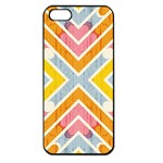 Line Pattern Cross Print Repeat Apple iPhone 5 Seamless Case (Black)