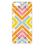 Line Pattern Cross Print Repeat Apple iPhone 5 Seamless Case (White)