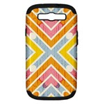 Line Pattern Cross Print Repeat Samsung Galaxy S III Hardshell Case (PC+Silicone)