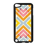 Line Pattern Cross Print Repeat Apple iPod Touch 5 Case (Black)