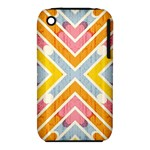 Line Pattern Cross Print Repeat iPhone 3S/3GS