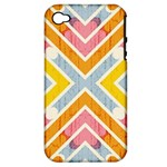 Line Pattern Cross Print Repeat Apple iPhone 4/4S Hardshell Case (PC+Silicone)