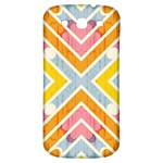 Line Pattern Cross Print Repeat Samsung Galaxy S3 S III Classic Hardshell Back Case