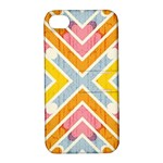 Line Pattern Cross Print Repeat Apple iPhone 4/4S Hardshell Case with Stand