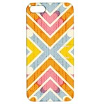 Line Pattern Cross Print Repeat Apple iPhone 5 Hardshell Case with Stand
