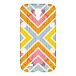 Line Pattern Cross Print Repeat Samsung Galaxy S4 I9500/I9505 Hardshell Case