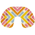 Line Pattern Cross Print Repeat Travel Neck Pillows