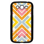 Line Pattern Cross Print Repeat Samsung Galaxy Grand DUOS I9082 Case (Black)