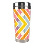 Line Pattern Cross Print Repeat Stainless Steel Travel Tumblers