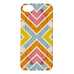 Line Pattern Cross Print Repeat Apple iPhone 5S/ SE Hardshell Case