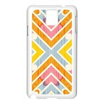 Line Pattern Cross Print Repeat Samsung Galaxy Note 3 N9005 Case (White)