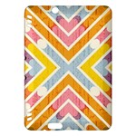 Line Pattern Cross Print Repeat Kindle Fire HDX Hardshell Case