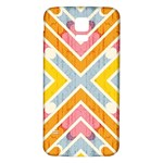 Line Pattern Cross Print Repeat Samsung Galaxy S5 Back Case (White)
