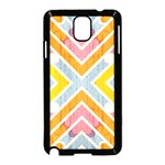 Line Pattern Cross Print Repeat Samsung Galaxy Note 3 Neo Hardshell Case (Black)