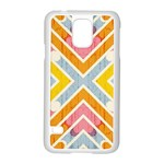 Line Pattern Cross Print Repeat Samsung Galaxy S5 Case (White)