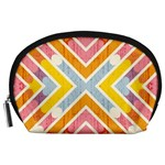 Line Pattern Cross Print Repeat Accessory Pouches (Large)