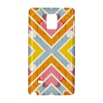 Line Pattern Cross Print Repeat Samsung Galaxy Note 4 Hardshell Case