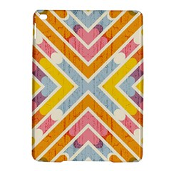 Line Pattern Cross Print Repeat Ipad Air 2 Hardshell Cases by Amaryn4rt