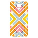 Line Pattern Cross Print Repeat Galaxy Note 4 Back Case