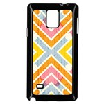 Line Pattern Cross Print Repeat Samsung Galaxy Note 4 Case (Black)