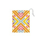 Line Pattern Cross Print Repeat Drawstring Pouches (XS)