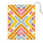Line Pattern Cross Print Repeat Drawstring Pouches (XXL)