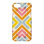 Line Pattern Cross Print Repeat Apple iPhone 7 Hardshell Case