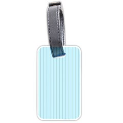 Stripes Striped Turquoise Luggage Tags (one Side)