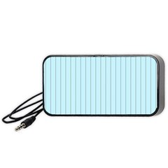 Stripes Striped Turquoise Portable Speaker (black)  by Amaryn4rt