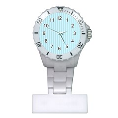 Stripes Striped Turquoise Plastic Nurses Watch by Amaryn4rt