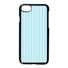 Stripes Striped Turquoise Apple Iphone 7 Seamless Case (black) by Amaryn4rt