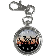 Bicycles Wheel Sunset Love Romance Key Chain Watches by Amaryn4rt