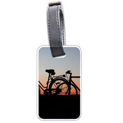 Bicycles Wheel Sunset Love Romance Luggage Tags (one Side)  by Amaryn4rt