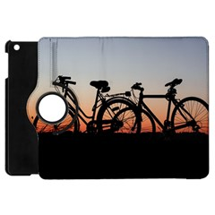 Bicycles Wheel Sunset Love Romance Apple iPad Mini Flip 360 Case by Amaryn4rt