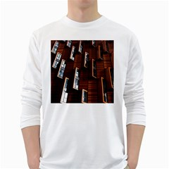 Abstract Architecture Building Business White Long Sleeve T Shirts by Amaryn4rt
