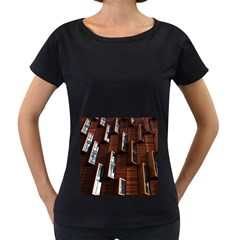 Abstract Architecture Building Business Women s Loose Fit T Shirt (black) by Amaryn4rt