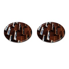 Abstract Architecture Building Business Cufflinks (oval) by Amaryn4rt