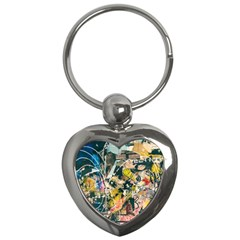 Art Graffiti Abstract Vintage Lines Key Chains (heart)  by Amaryn4rt