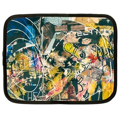 Art Graffiti Abstract Vintage Lines Netbook Case (large) by Amaryn4rt