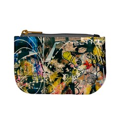 Art Graffiti Abstract Vintage Lines Mini Coin Purses
