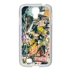 Art Graffiti Abstract Vintage Lines Samsung Galaxy S4 I9500/ I9505 Case (white) by Amaryn4rt