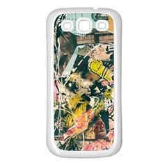 Art Graffiti Abstract Vintage Lines Samsung Galaxy S3 Back Case (white)